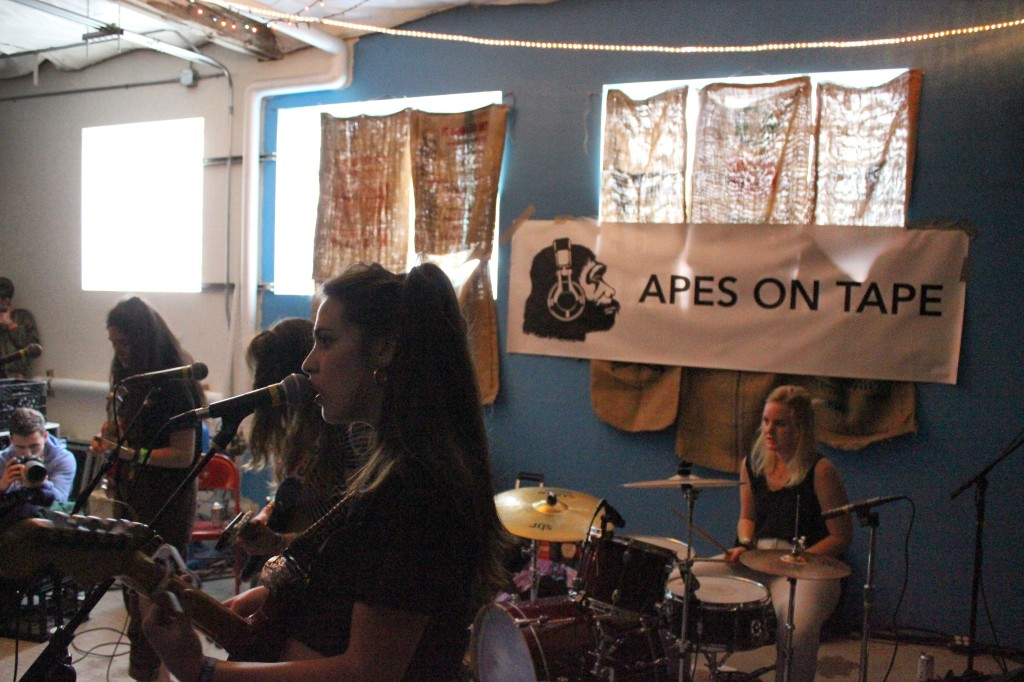 Hinds at the Apes on Tape Showcase at Treefort Fest